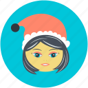 avatar, christmas, christmas avatar, girl face, teen ager icon