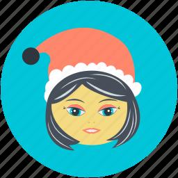 avatar, christmas, christmas avatar, girl face, teen ager icon