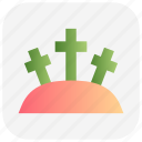 christmas, dead, graveyard, tombstone icon