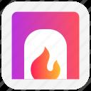 chimney, christmas, fireplace, heater, hot, warm