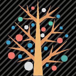 christmas, christmas tree, nature, tree, tree decoration icon