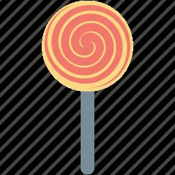candy, confectionery, lollipop, sweet snack, swirl lollipop icon