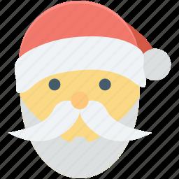 christmas, santa avatar, santa claus, santa claus face, santa face icon