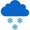 christmas, cloud, cold, snow, snowflake, winter icon