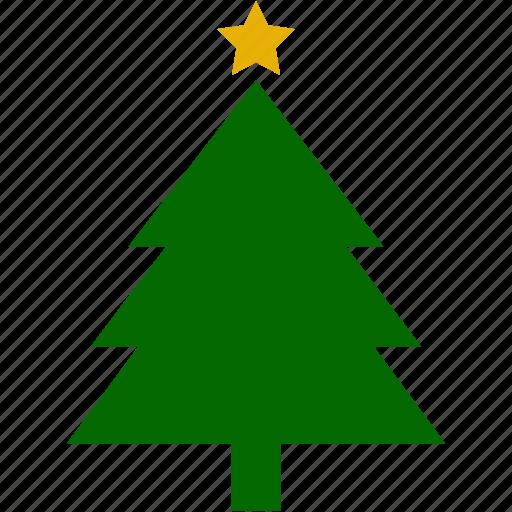 christmas, pines, plant, plants, star, xmas icon