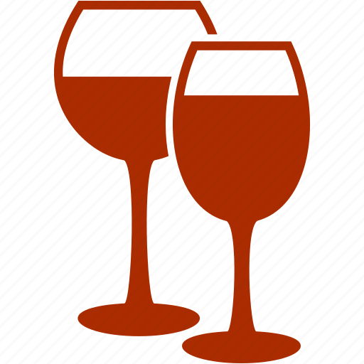 alcohol, christmas, glasses, party, toast, wine, wine glasses icon