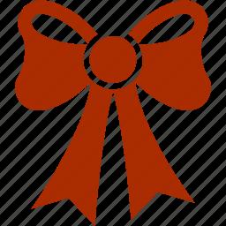 bow, christmas, decoration, holiday, ornament, ribbon icon