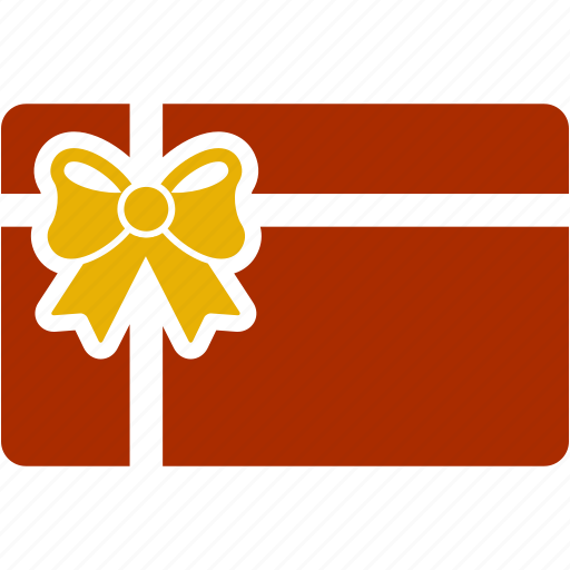 bow, card, christmas, gift, gift card, shopping icon