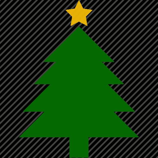 christmas, pines, plant, star, xmas icon