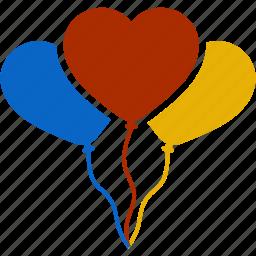 balloon, celebration, christmas, decoration, valentine, wedding icon