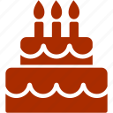birthday, cake, candle, christmas, wedding icon