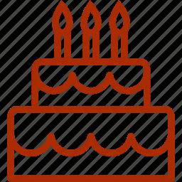 birthday, cake, candle, christmas, wedding icon