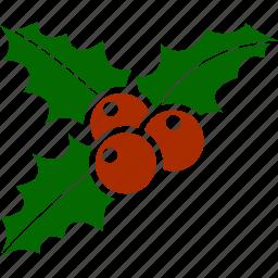 christmas, mistletoe, ornament, plant, xmas icon