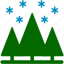 christmas, cold, pines, plants, snow, snowflake, winter