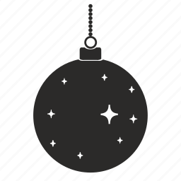 and, ball, chain, christmas, new year, stars, toy icon