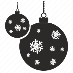 balls, christmas, new year, winter icon