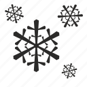 christmas, cold, flakes, nature, snow, weather, winter icon