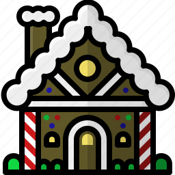 candy, christmas, decoration, festive, gingerbread, holidays, house icon