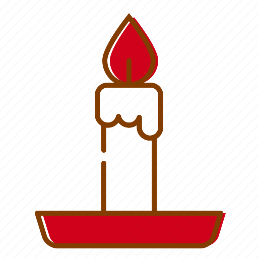 candle, christmas, decoration, holidays, red, winter, xmas icon