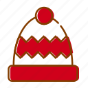 christmas, hat, holidays, red, snow, winter, xmas icon