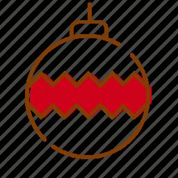 christmas, decoration, holidays, ornament, red, tree, xmas icon