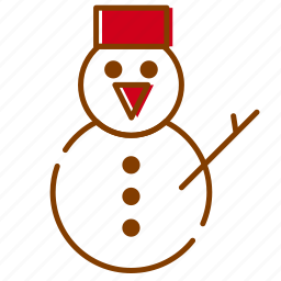 cold, red, snow, snowman, winter, xmas icon