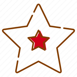 christmas, decoration, holidays, red, star, tree, xmas icon