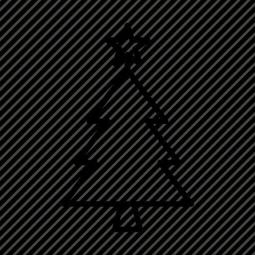 christmas, holiday, star, tree, winter icon