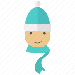 boy, christmas, snow, snowman, winter, xmas icon