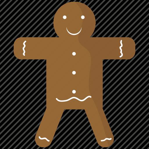 christmas, food, gingerbread, holidays, man icon