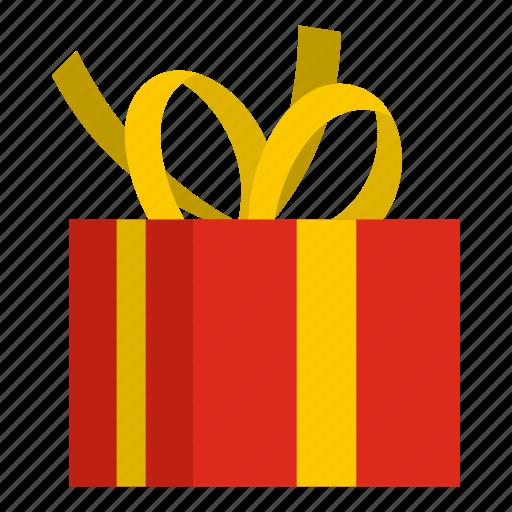 bow, box, celebration, christmas, gift, holiday, ribbon icon