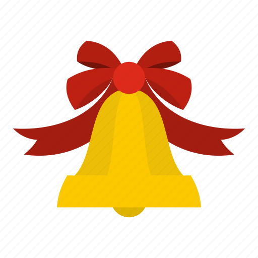 bell, blog, bow, gold, jingle, ring, shiny icon