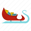 blog, christmas, claus, gifts, holiday, santa, sleigh icon