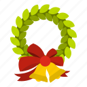 bell, blog, celebration, christmas, holiday, wreath, xmas icon