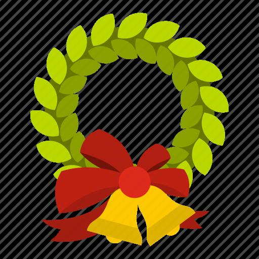 bell, blog, celebration, christmas, holiday, wreath, xmas icon