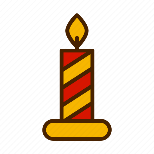 candle, celebration, christmas, winter, xmas icon
