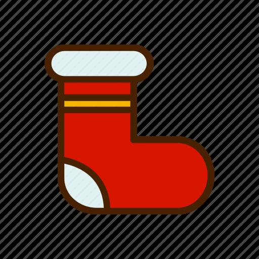 celebration, christmas, sock, winter, xmas icon