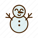 celebration, christmas, snowman, winter, xmas icon