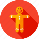 christmas, cookie, gingerbread, gingerbread man, man, merry, xmas icon