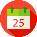 calendar, christmas, date, december, eve, merry, winter icon