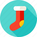 christmas, gift sock, happy, merry, new year, present, sock icon