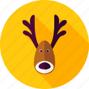 animal, christmas, deer, horn, new year, reindeer, xmas icon
