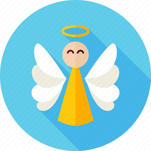 angel, christmas, decor, eve, holiday, saint, wing icon