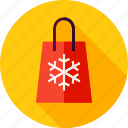 bag, christmas, gift, package, present, shopping, snowflake icon