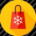 bag, christmas, gift, package, present, shopping, snowflake