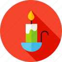 candle, celebration, decor, decoration, fire icon