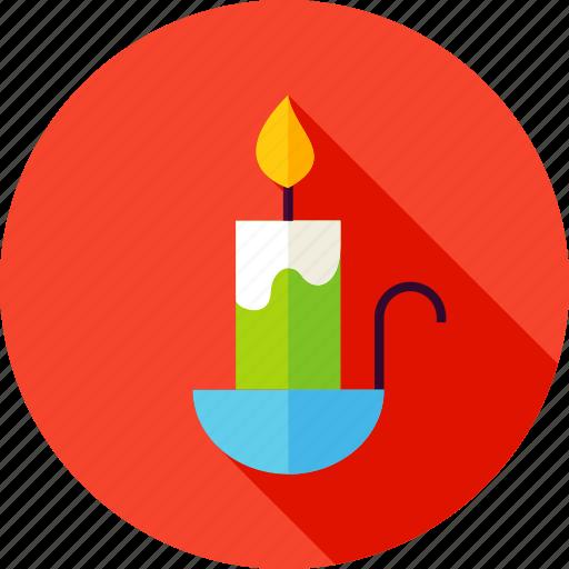 candle, celebration, decor, decoration, fire icon