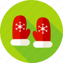 accessory, christmas, glove, gloves, snow, snowflake, winter icon