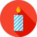 candle, celebrate, decor, decoration, fire icon