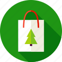 bag, christmas, gift, package, present, shopping, tree